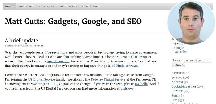Matt Cutts Blog